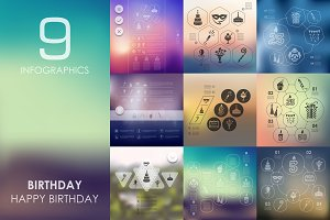 9 birthday infographics