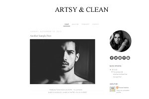 Blogger Template - Artsy and Clean
