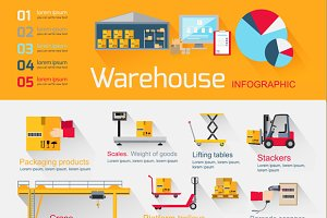 Infographics Equipment Warehouse