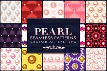18 Pearl Vector Seamless Patterns