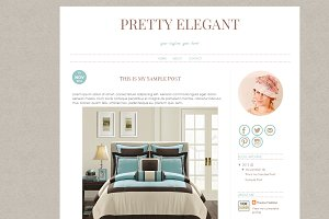 Blogger Template - Pretty Elegant