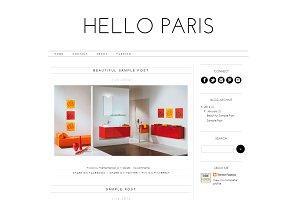 Blogger Template - Hello Paris