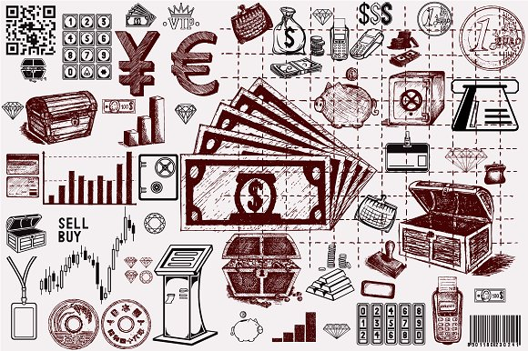 Money. Business relationship - Icons