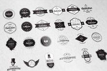24 Vintage Badges Bundle - 50% off