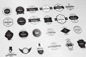 24 Vintage Badges Bundle - 50% off