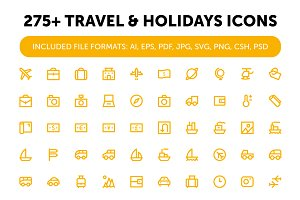 275+ Travel and Holidays Icons