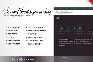 Clean Photography WordPress Theme