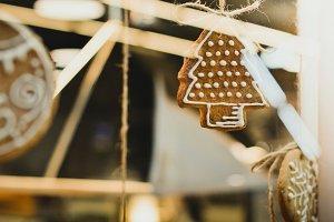 Christmas Cookies Through Window