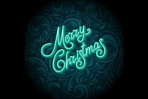 Neon Color Lighting Merry Christmas