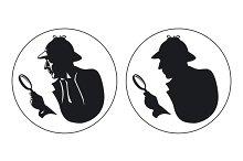 secret agent showing id badge retro ~ Illustrations on