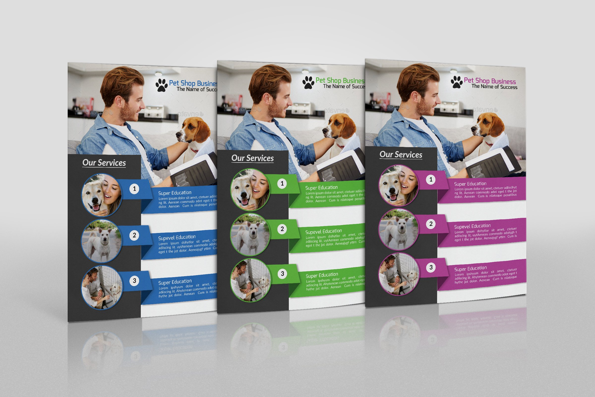 Pet Shop Business Flyer Template Flyer Templates Creative Market