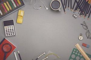 Creative table top hero header