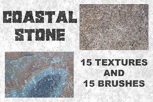 Coastal Stone-15 Textures & Brushes