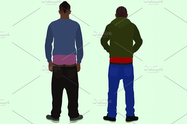 teen boy sagging