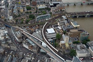 Aerial view of London