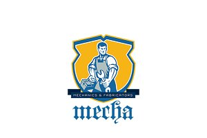 Mecha Mechanics and Fabricators Logo
