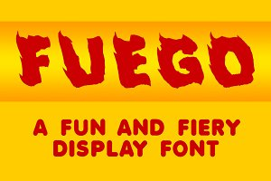 Fuego - A Fun and Fiery Font