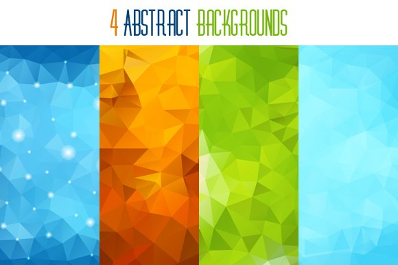four abstract backgrounds illustrations creative market