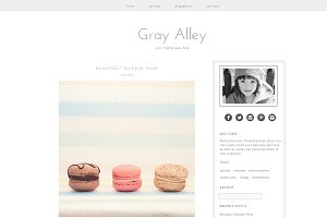 Wordpress Template - Gray Alley