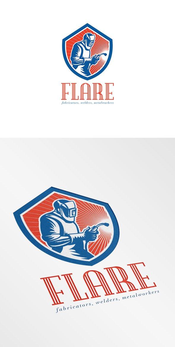Welder Fabricator Welding Logo ~ Logo Templates ~ Creative ...