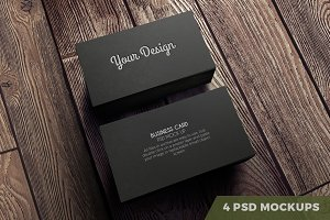 4-Pack PSD. Business cards