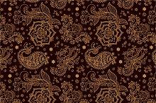 4 Paisley Seamless Patterns