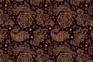 4 Paisley Seamless Patterns