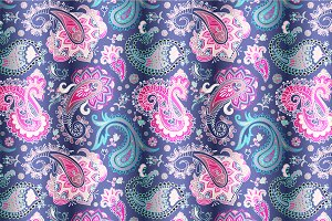 2 Paisley Seamless Patterns