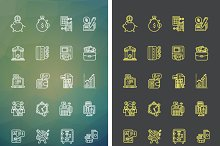 Set Icons Theme of Success Business