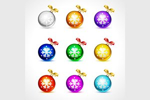 9 color fur-tree toy ball with bow