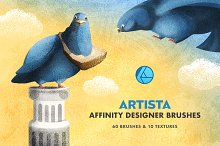 Artista Affinity Designer Brushes by  in Add-Ons
