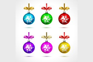 6 color fur-tree toy ball with bow