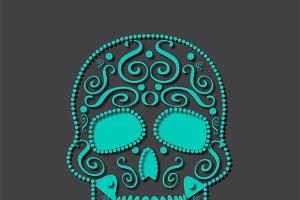Skull vector white