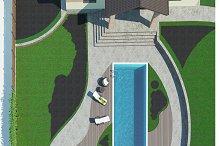 Poolside master plan, 3D render