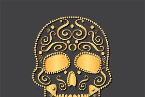 Skull vector gold