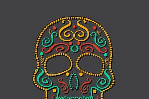 Skull vector colors