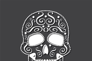 Skull vector background