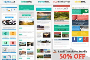 5 Email Templates Bundle (50% off)