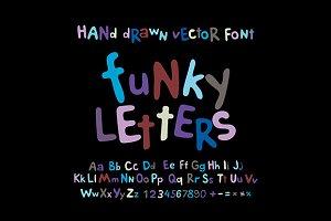 ABC alphabet funky letters children