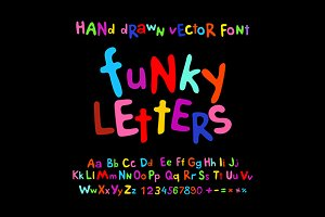 ABC alphabet funky letters children