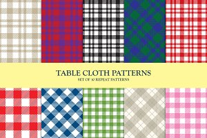 Set of 10 Table Cloth Patterns