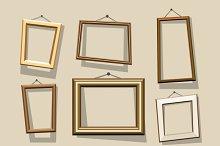 Vector cartoon frames set