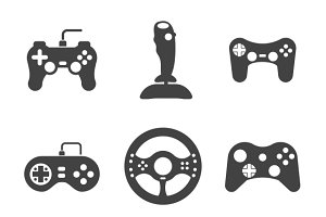 Joystick icons set
