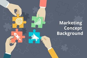 Marketing concept background