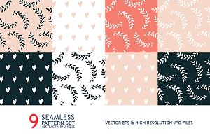 9 lovely seamless pattern collection