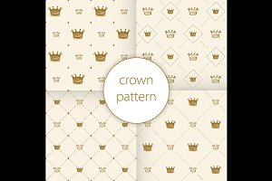 Simple seamless vector pattern crown