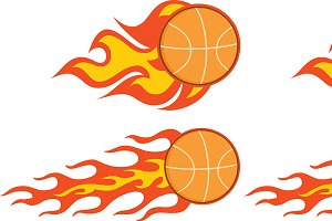 Flaming Basketball Collection