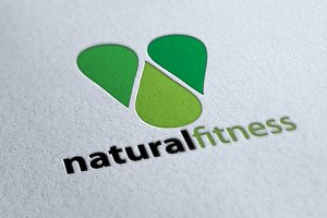 Natural Fitness - Premium Logo