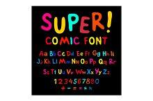 Funny alphabet cartoon font abc