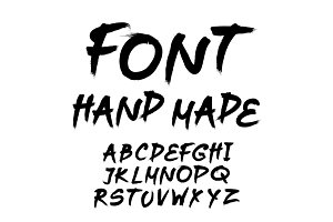 trendy hand-drawn  alphabet